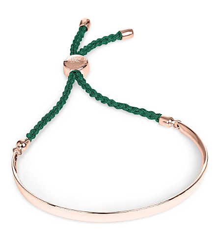 Green Monica Vinader Rose Gold Friendship Bracelet