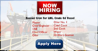 Urgent domestic seaman hiring 2019