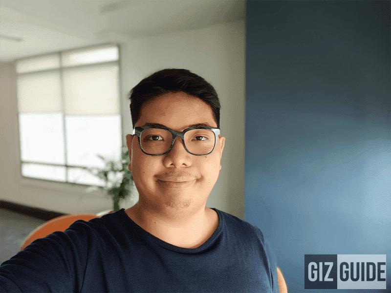 Daylight selfie portrait