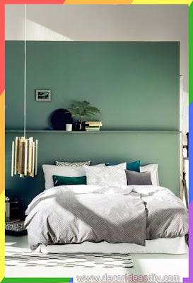 الراحة النفسية تتحقق بوجود اللون الأخضر داخل غرف نوم
