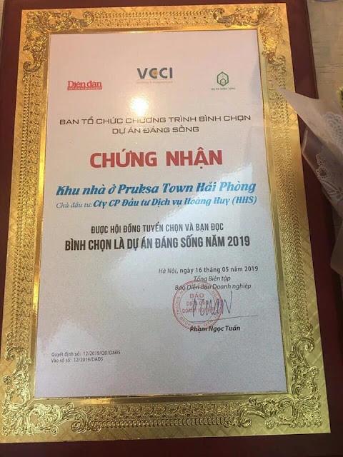 Chứng nhận chung cư An Đồng