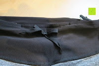 Kordel: Laufhose Damen capri mit Hüfttasche für Handy Leggings Fitness Sport tights schwarz muster yoga hose sporthose jogging farbig dreiviertel 3/4 lang von Formbelt