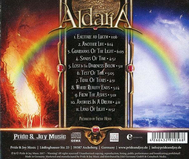 ALDARIA - Land Of Light (2017) back