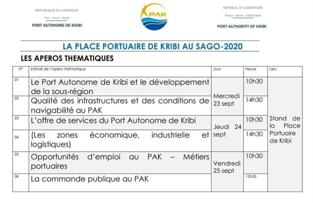 recrutement au port autonome de kribi
