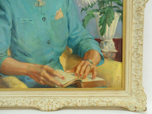 Famous Pennsylvania Artist Francis J. Quirk Close up of hands and vase