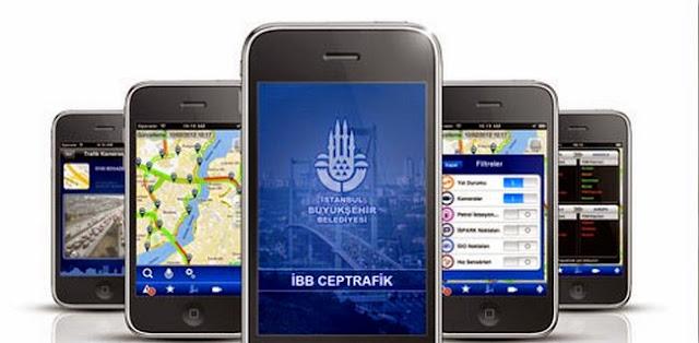 iphone ibb cep trafik uygulaması
