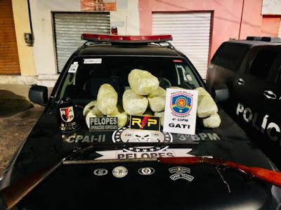 PM de Alagoas e PE apreendem 12 quilos de droga que iria para Santana do Ipanema