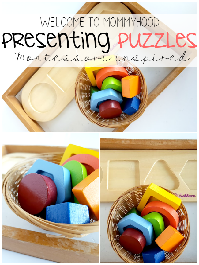 Montessori inspired home: presenting puzzles by Welcome to Mommyhood #montessori, #montessorihome, #montessoriactivities