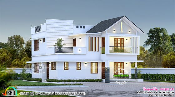 2207 sq-ft mixed roof house plan