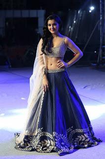 Indian Girl Malavika Sharma In Blue Lehenga Choli (9)