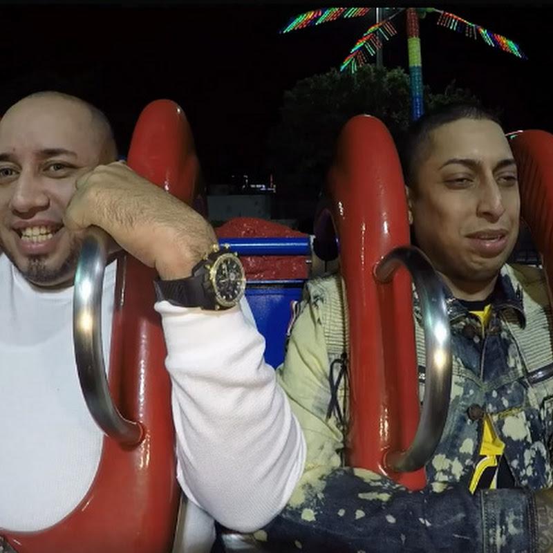 """Ñengo Flow se disfruta la atracción """"Sling Shot"""" del Magical Midway en Orlando"""