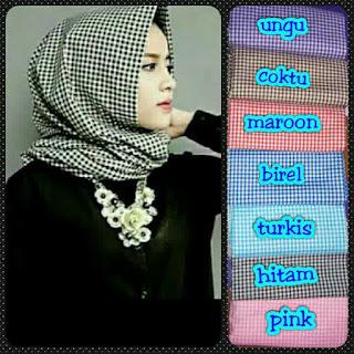 Model jilbab pashmina monochrome katun