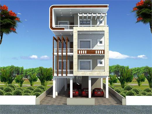 Dhayari Pune Triplex Floor Design AG - 360