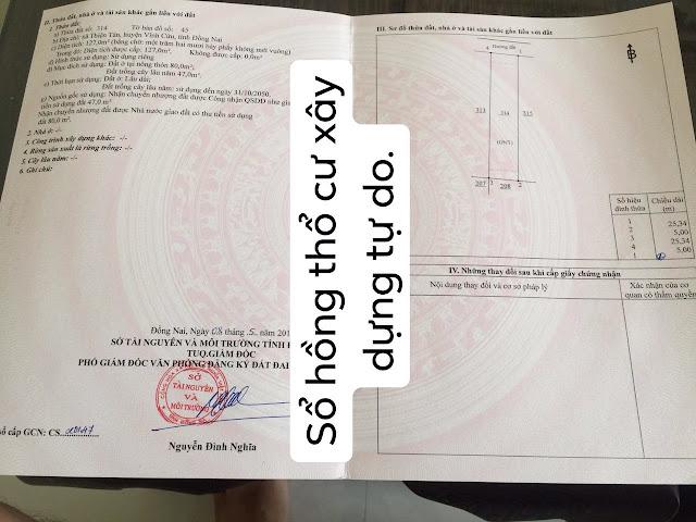 Bán Lô đất xã Thiện Tân Vĩnh Cửu 127mv