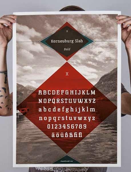 Korneuburg Slab font