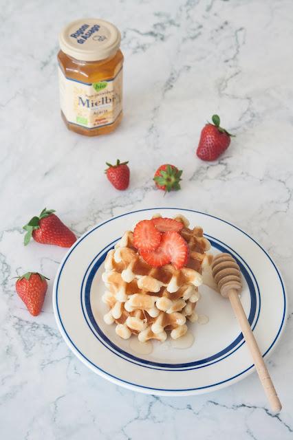 La ricetta dei Waffle al miele