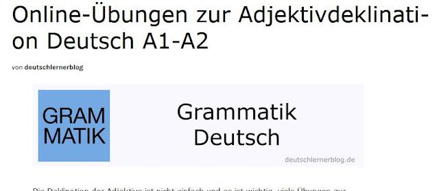 http://deutschlernerblog.de/uebungen-zur-adjektivdeklination-deutsch-a1-a2/