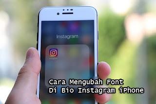 cara mengubah font di bio instagram iphone atau ios