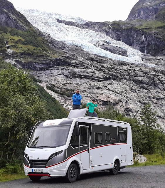 Glaciar Bøyabreen no Parque Nacional Jostedalsbreen