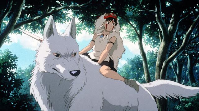 Fotograma de la película de animación de Studio Ghibli La Princesa Mononoke