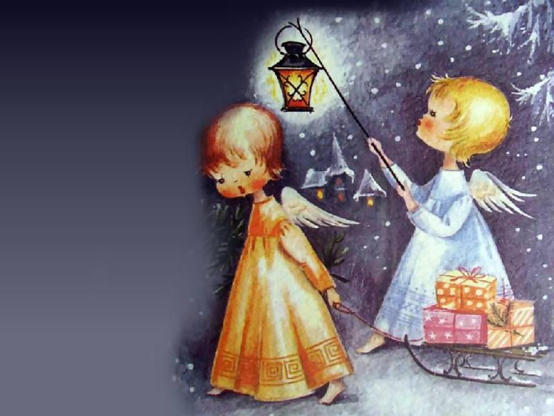 Immagini Del Santo Natale.Angeli Con Il Pennello Aspettando Natale