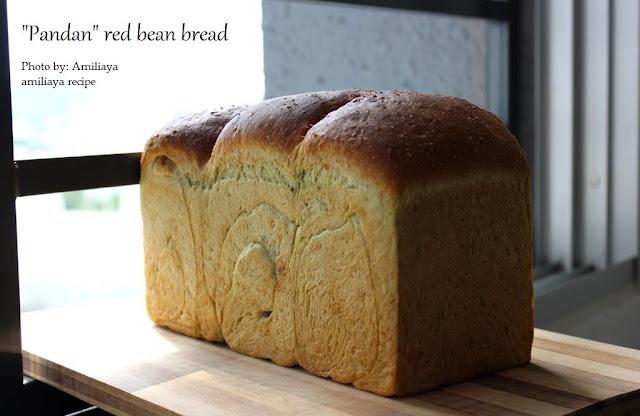 香兰红豆面包