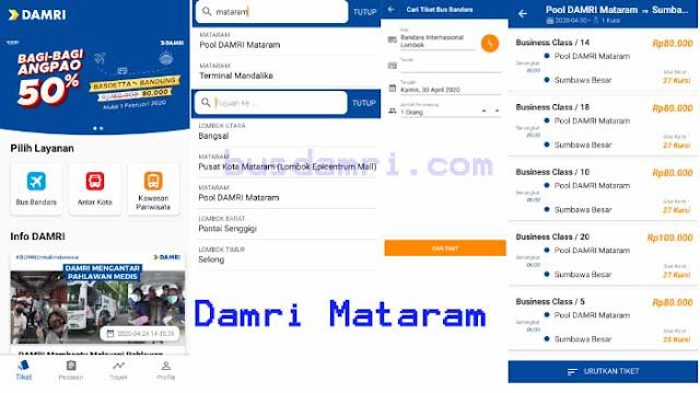Harga Tiket Damri Mataram 2020