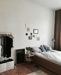 Dekorasi kamar Tidur Cowok White Minimalis