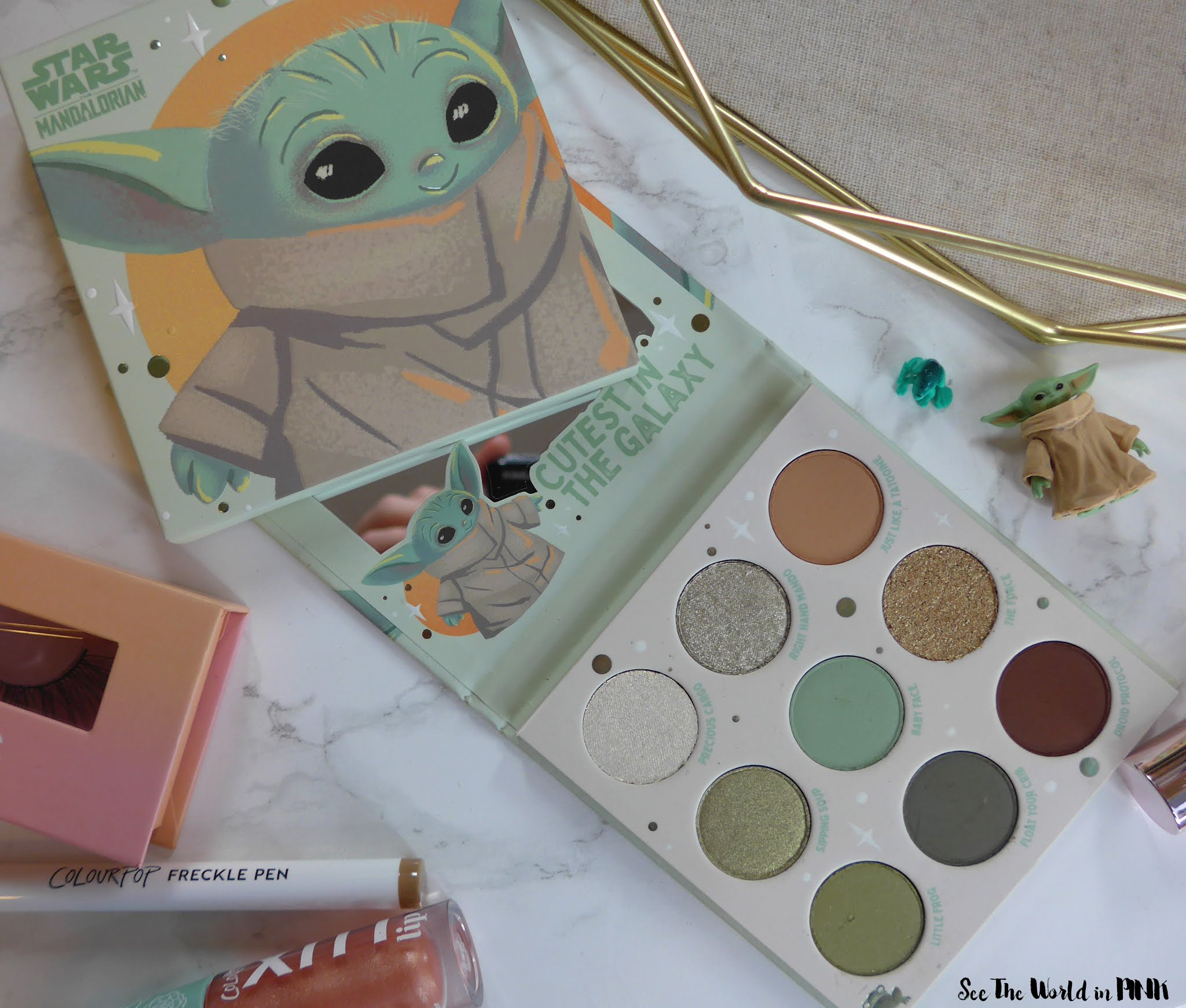 "ColourPop The Mandalorian ""The Child"" Baby Yoda Shadow Palette + Other Newer ColourPop Goodies!"