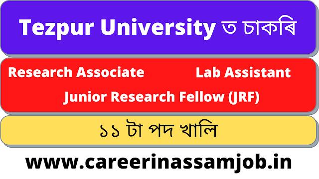 Research Associate / JRF / Lab Assistant || Assam Career Job