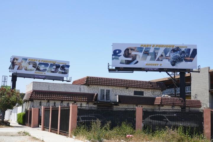 Fast Furious Hobbs & Shaw film billboards