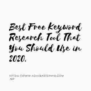 Best Free Keyword Research Tool That You Should Use.