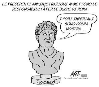 buche, roma, comune, amministrazioni precedenti, vignetta, satira