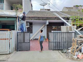 Pembuatan Canopy Atap Alderon