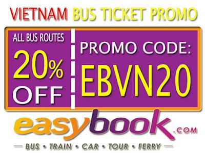 Diskon 20% Pembelian Tiket Bus Vietnam Via Easybook
