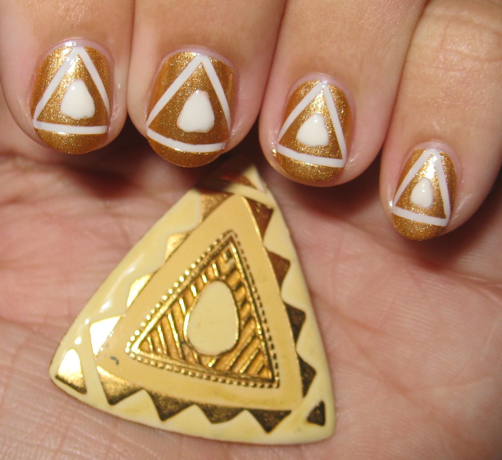 80's Earrings nail art #1