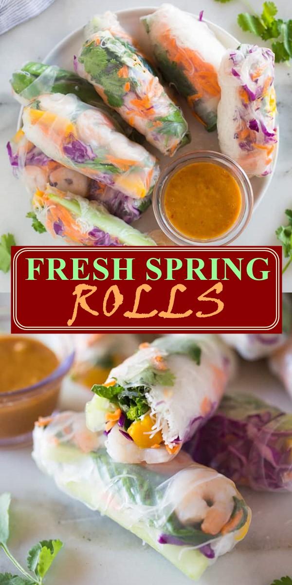 FRESH SPRING ROLLS #appetizerrecipes