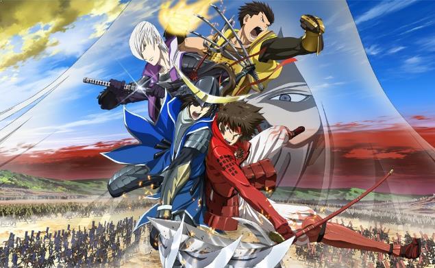 Sengoku Basara - Daftar Anime Samurai Terbaik Sepanjang Masa