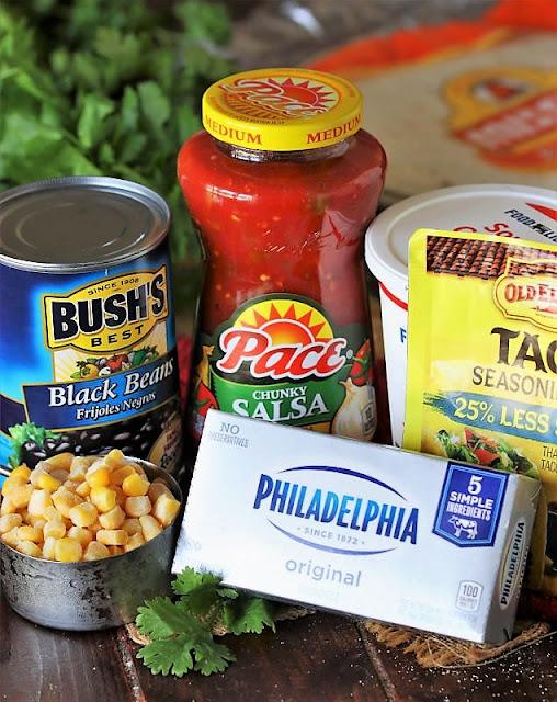 Veggie Taco Roll-Ups Ingredients Image