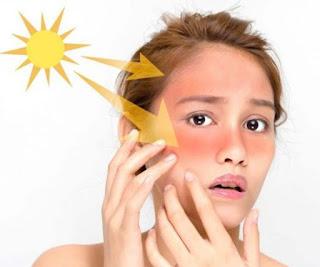 Not go to sun after facial