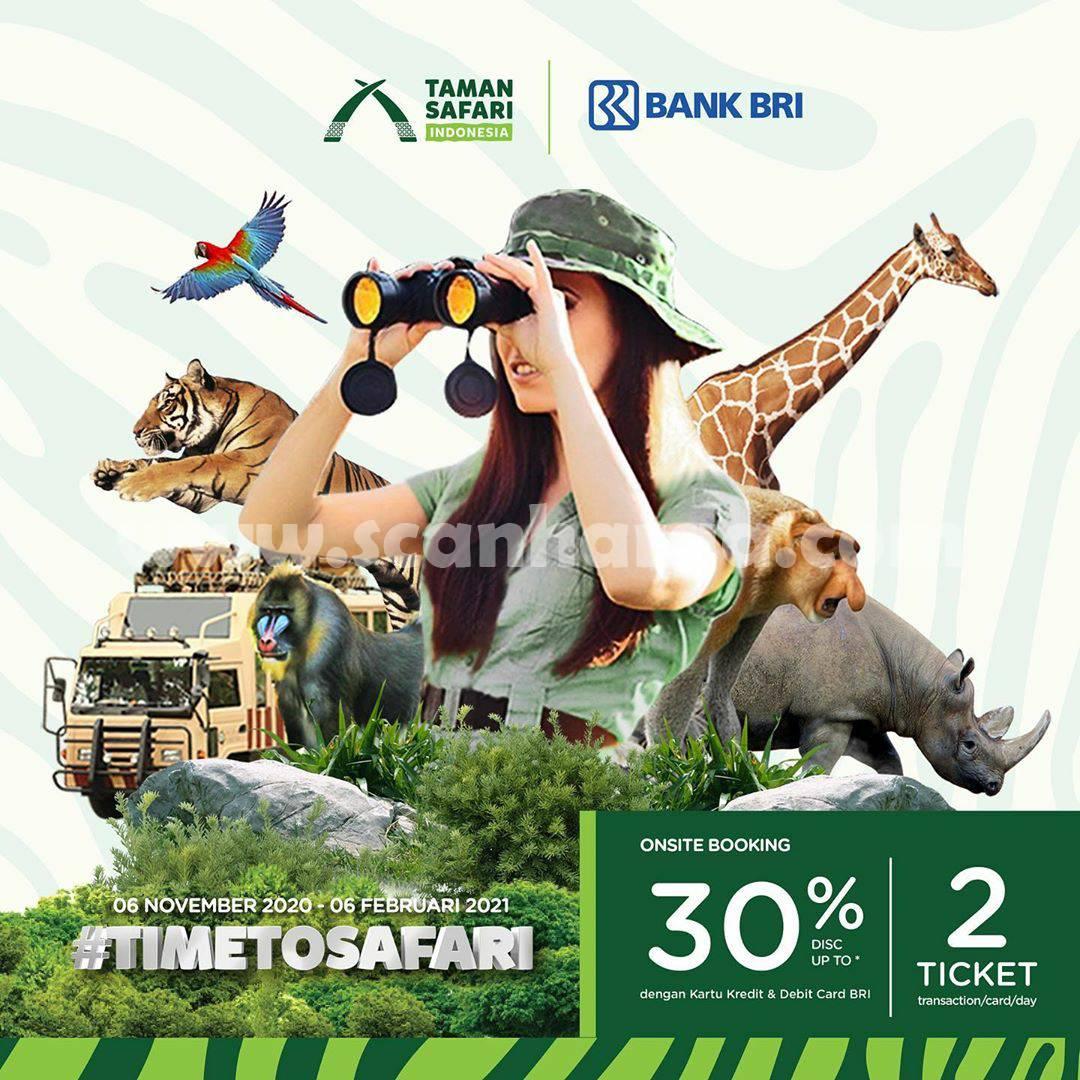 Promo Taman Safari Prigen Diskon hingga 30% dengan Kartu Debit, Kredit BRI dan BRIZZI