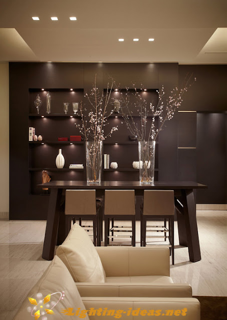 Dining room lighting ideas: Contemporary dining room with recessed ...