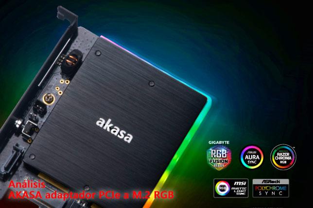 ANÁLISIS AKASA adaptador PCIexpress a M.2 RGB