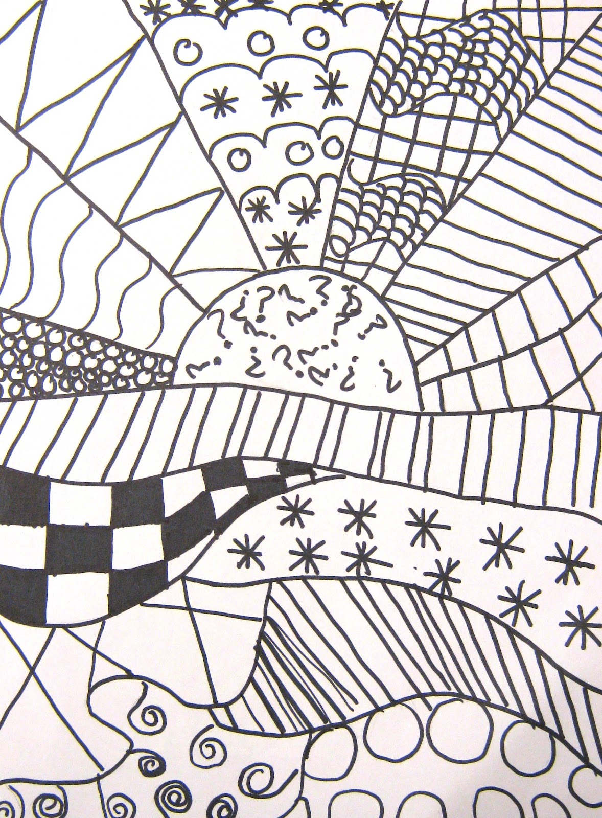 Image result for a beginning  zentangle