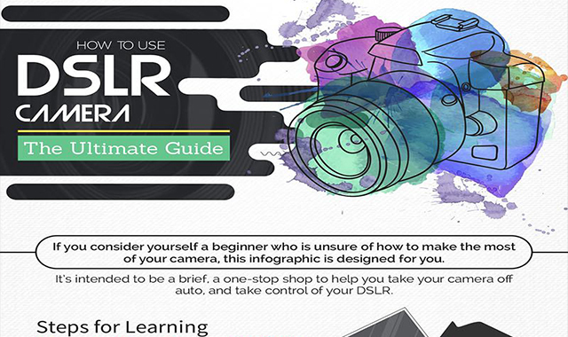 How to take amazing pictures with a DSLR camera–Guide to Beginners:  #infographic