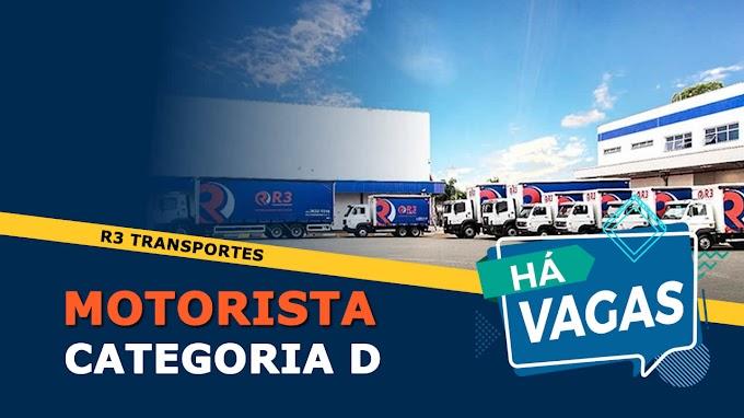 R3 Transportes abre vagas para Motorista Salário: R$ 1.938,00 + Benenfícios