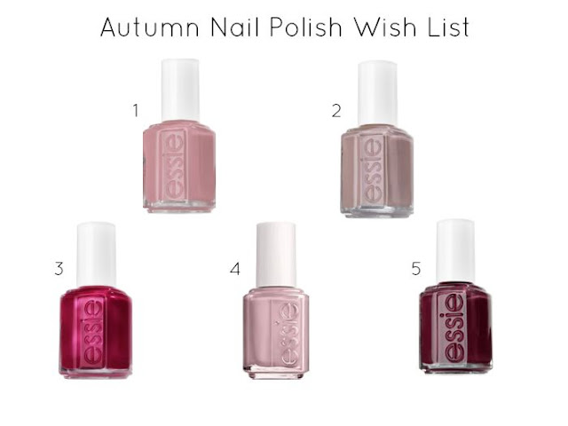 Friday Five / Autumn Nail Polish Wish List - Miss Bella blogs