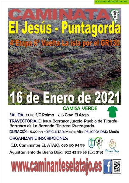 """EL ATAJO: """"El Jesús (Tijarafe) - Puntagorda"""