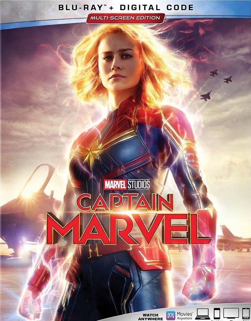 Capitana Marvel Blu-ray Cover Caratula