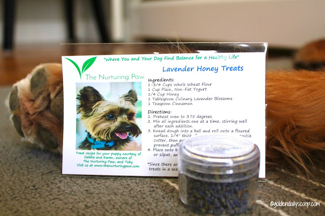 the nurturing paw dog treat recipe with lavender